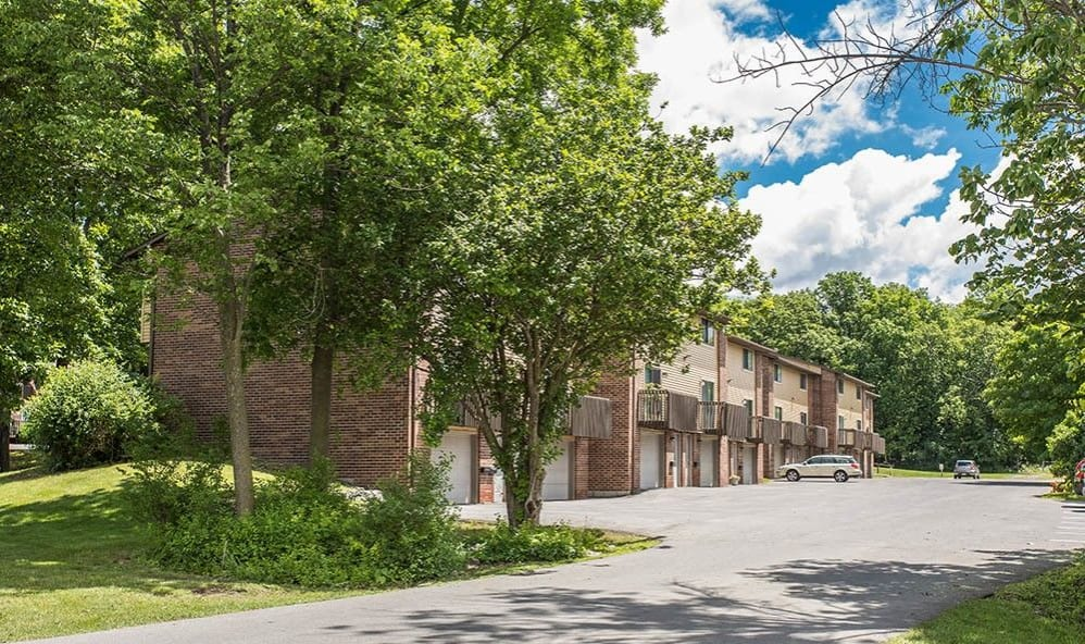 Exterior of apartments at High Acres Apartments & Townhomes in Syracuse, New York