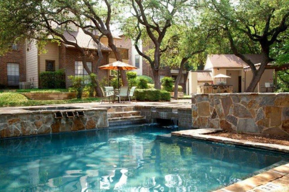 Sparking swimming pool at Carmel at Deerfield in San Antonio, Texas