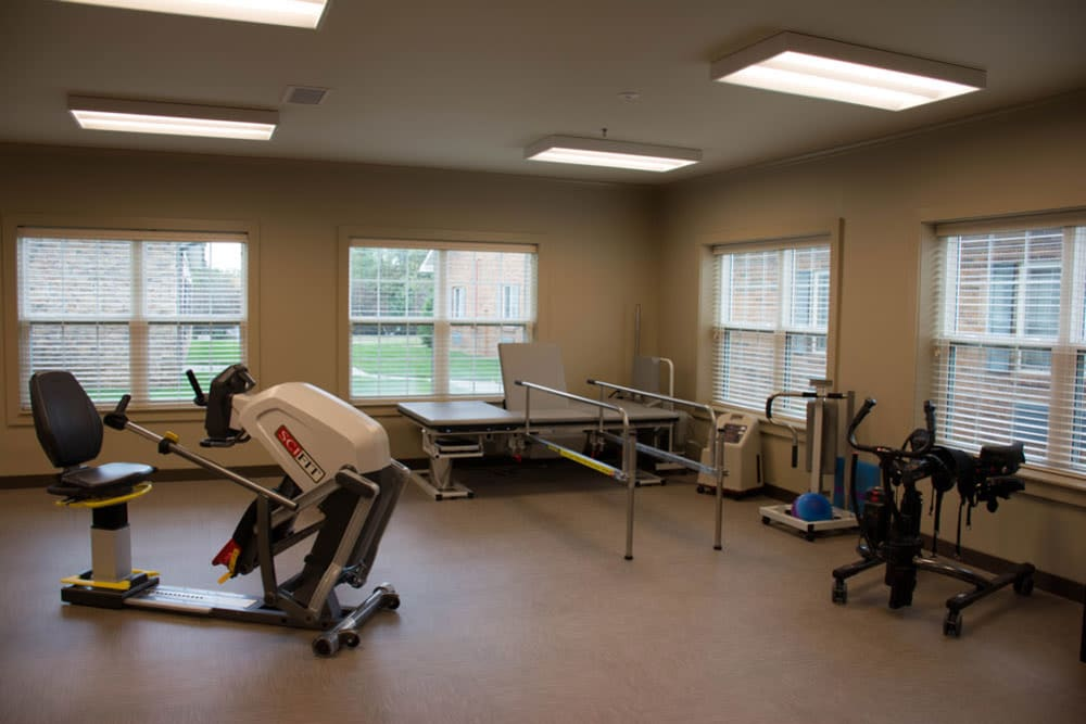 Fitness area at The Willows at Springhurst in Louisville, Kentucky.