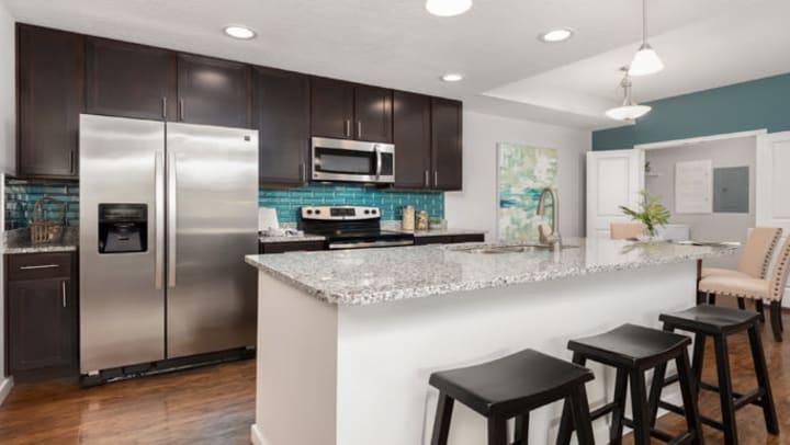 Kitchen in apartment.