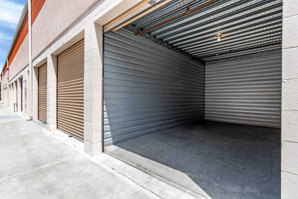 Large drive-up units at Carlsbad Self Storage in Carlsbad, CA