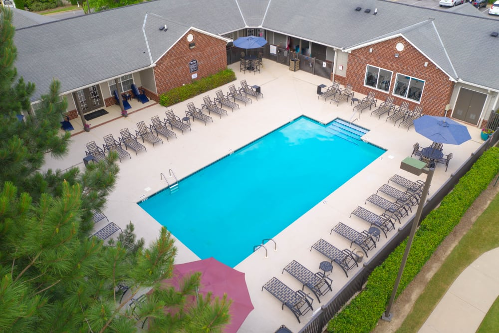 Sparkling pool at Lancaster Place in Calera, Alabama
