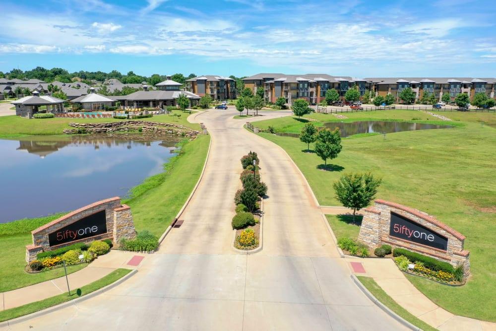 Driveway to Tradan Heights in Stillwater, Oklahoma
