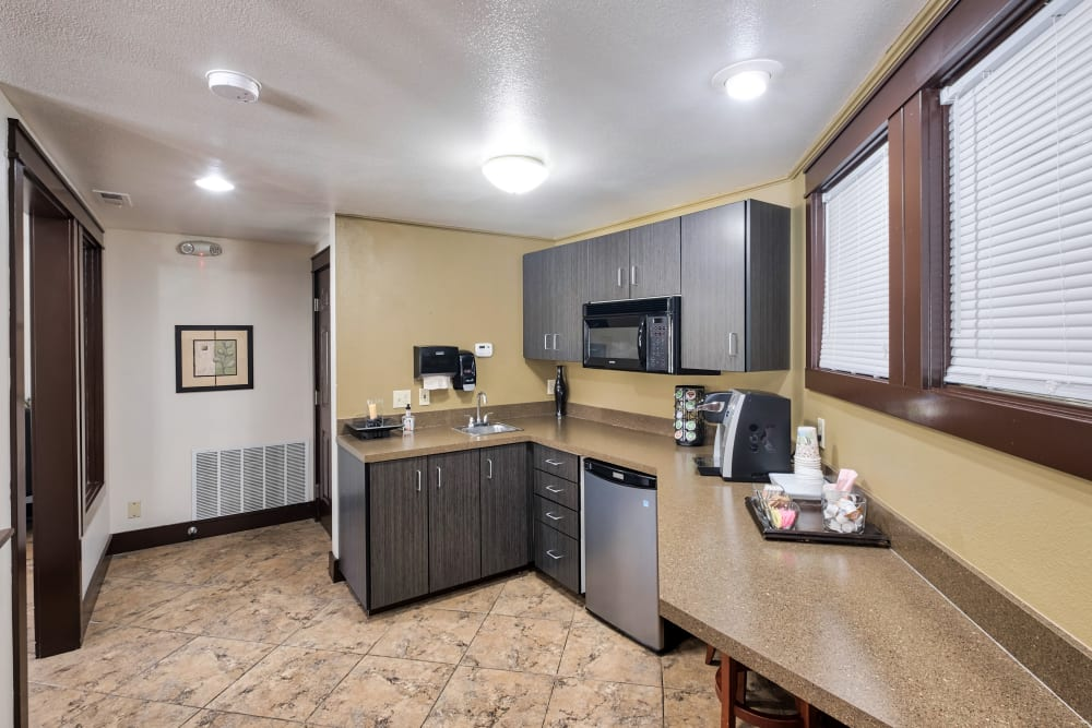 Clubhouse Kitchen at Arbor Crossing Apartments in Boise, Idaho