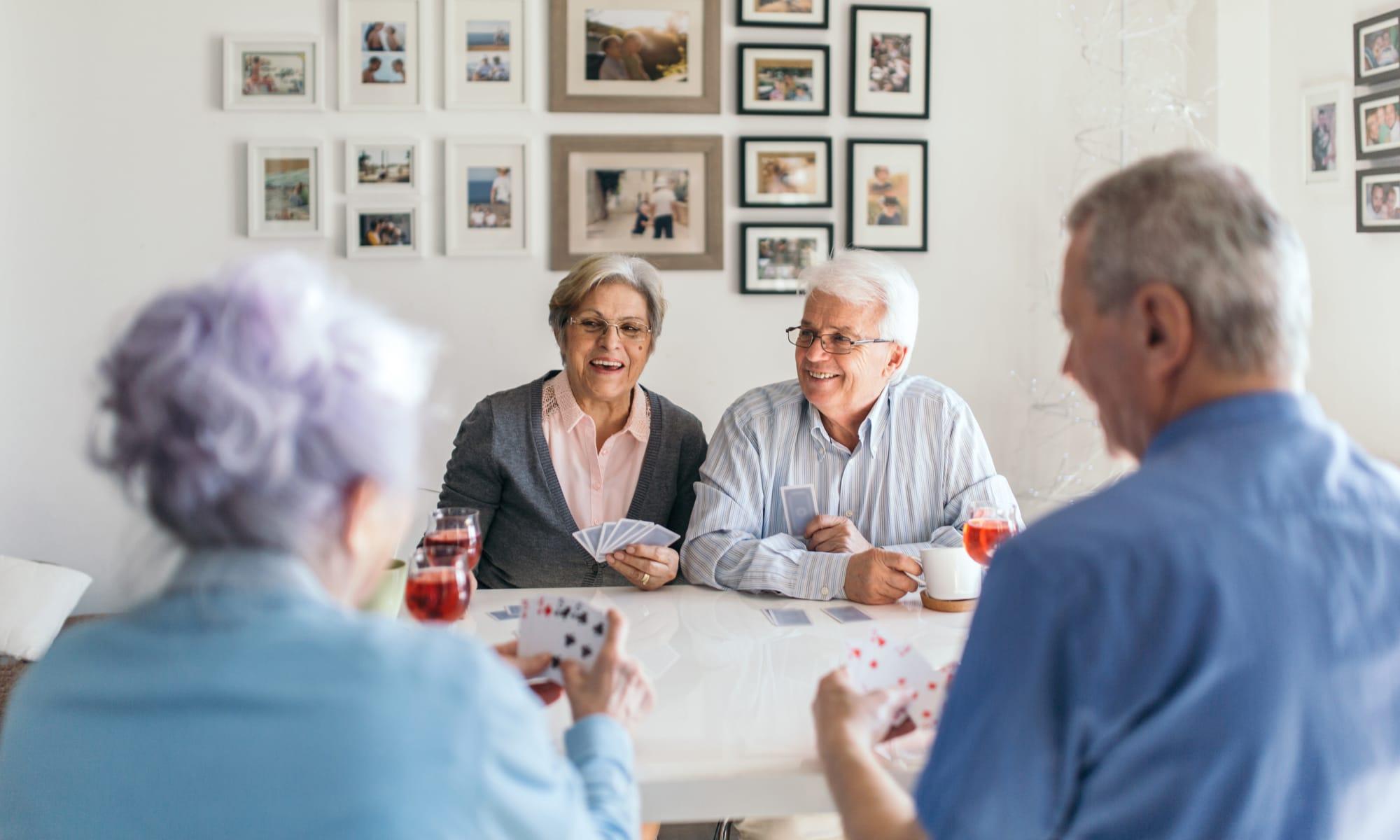 Residents playing cards at Broadwell Senior Living in Kearney, Nebraska