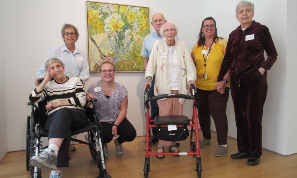 photo of caring staff and residents