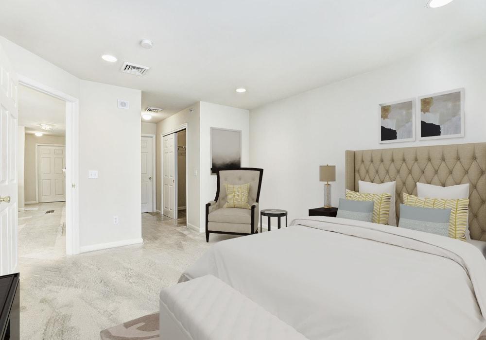 Expansive open-concept master bedroom at Hanover Glen in Bethlehem, Pennsylvania