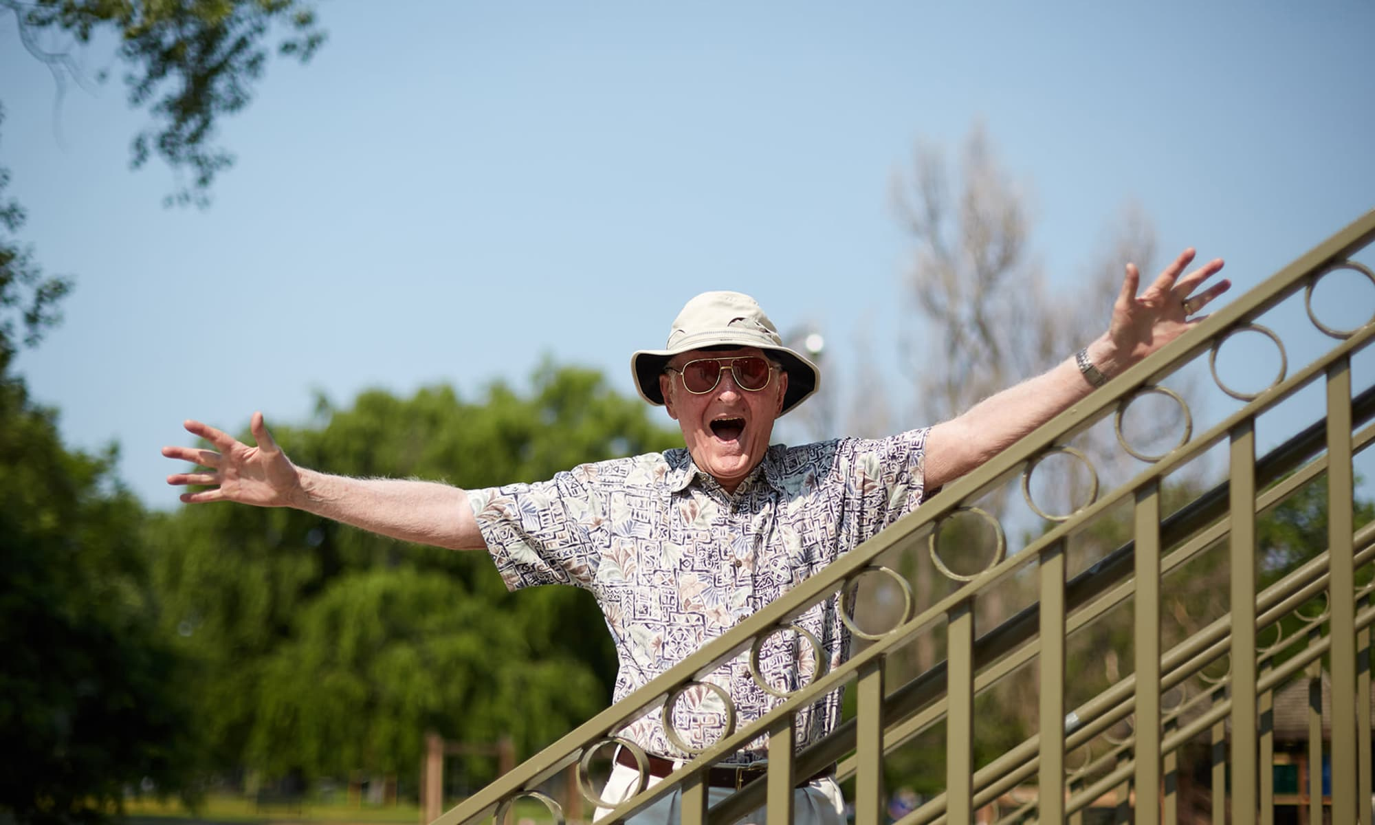A happy man because of Rhythms Home Care