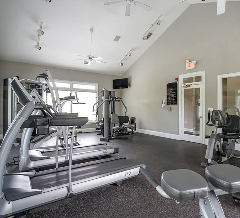 Fitness center for residents at Meadow Springs in College Park, Georgia