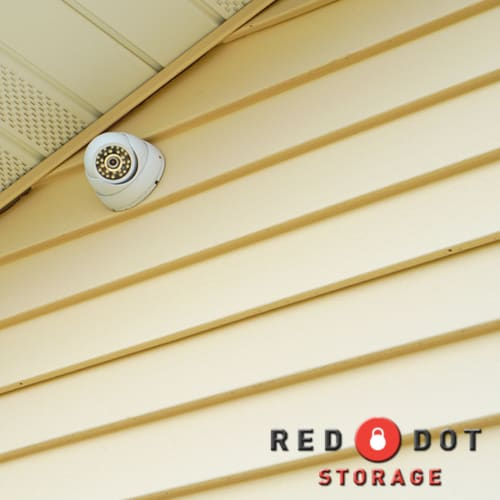 Security camera at Red Dot Storage in Janesville, Wisconsin