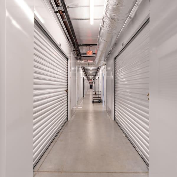 Indoor storage units at StorQuest Express Self Service Storage in Sacramento, California