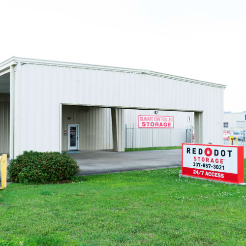 Exterior of Red Dot Storage in Youngsville, Louisiana