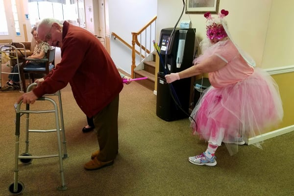 Residents struck by Cupids arrow on Valentine's Day at Discovery Senior Living in Bonita Springs, Florida