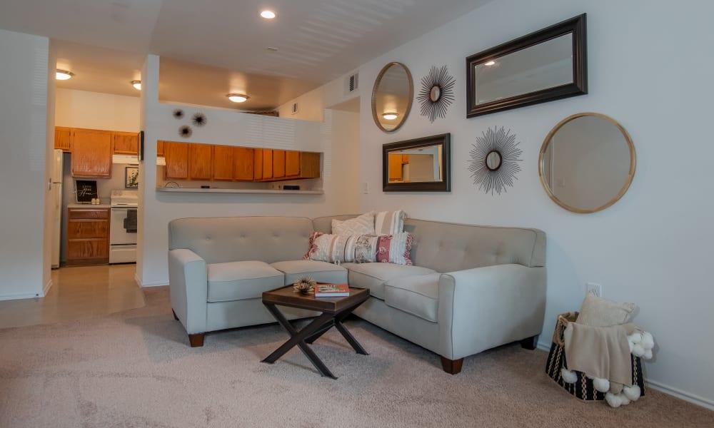 An apartment floor plan at The Pointe of Ridgeland in Ridgeland, MS