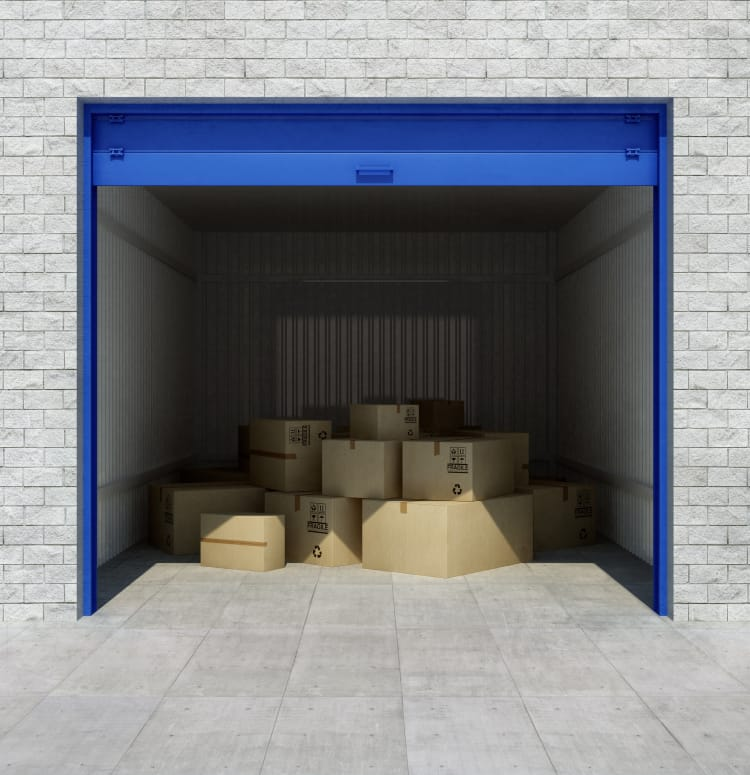 Open drive-up storage unit at Storage Star in Roy, Utah