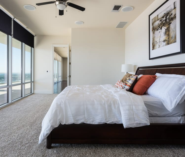 Lots of natural light and great views from a master bedroom at The Heights at Park Lane