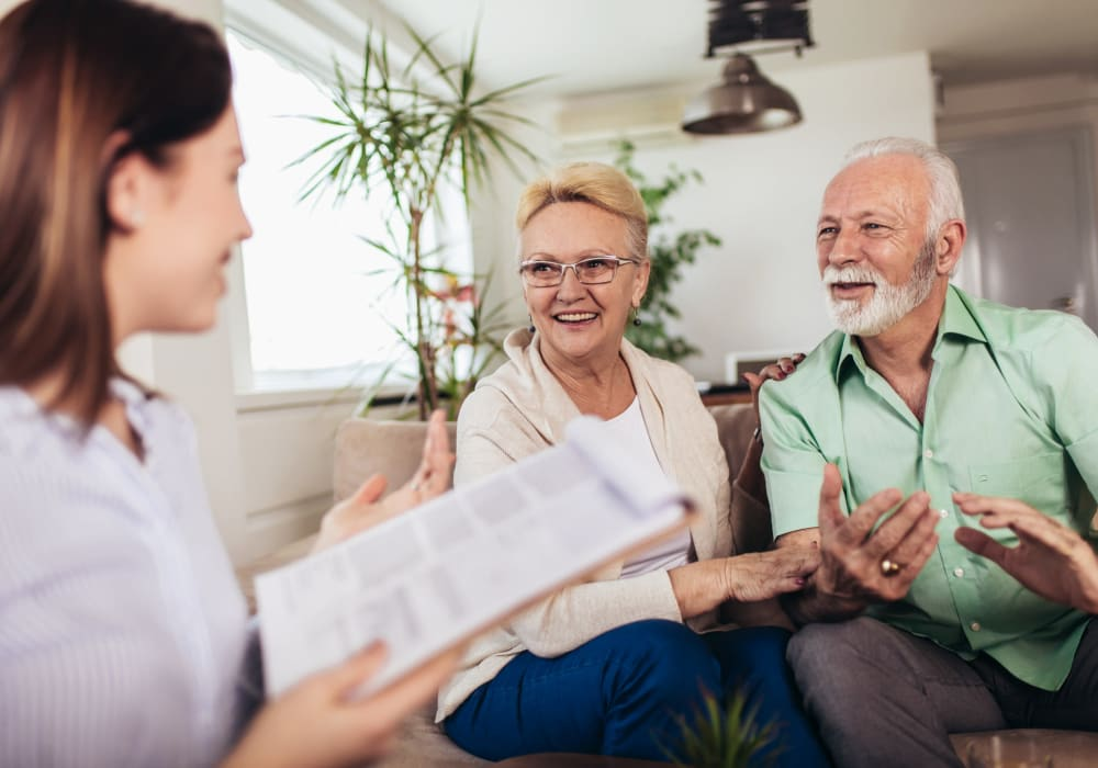 Meeting between resident, family and staff members at Inspired Living Bonita Springs in Bonita Springs, Florida.