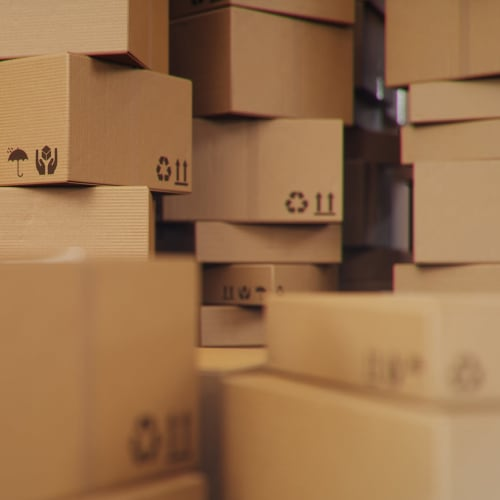 Boxes available at Golden Triangle Self Storage in San Diego, California