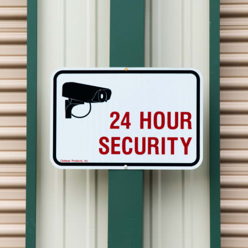 24 hour security at Red Dot Storage in Woodstock, Illinois