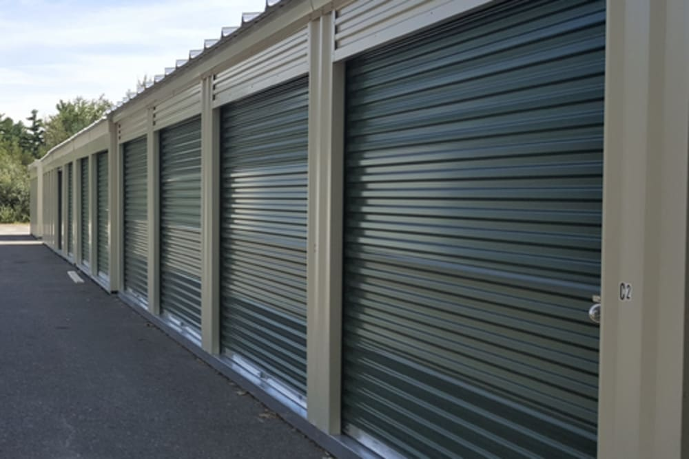 Sturdy storage doors at 603 Storage - Route 27 in Raymond, New Hampshire