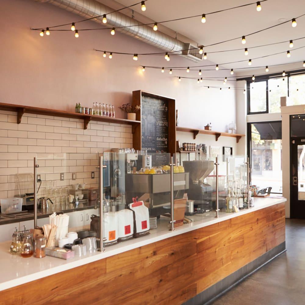 A well-stocked coffee bar near Zoey in Austin, Texas