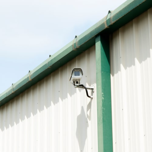 Security cameras mounted outside at Red Dot Storage in Hot Springs, Arkansas