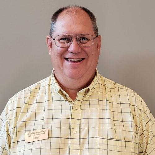 Greg Gelzinnis, Senior Living Counselor of Keystone Place at Richland Creek in O'Fallon, Illinois