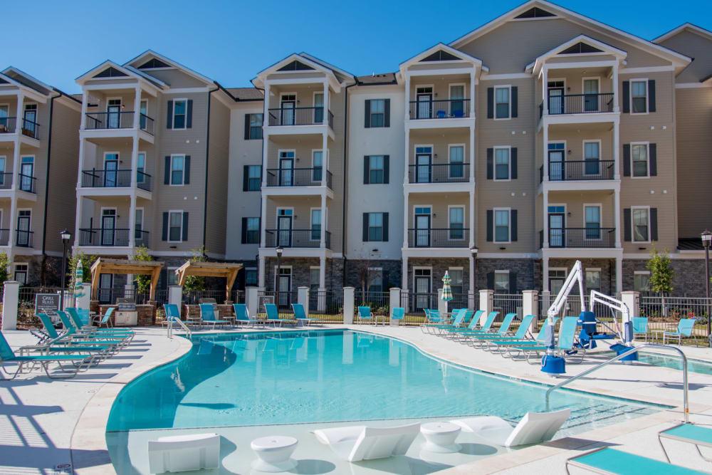 Resort Style Pool The Reserve on Bayou DeSiard in Monroe, Louisiana