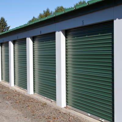 Exterior storage units at Monster Self Storage in Charleston, South Carolina
