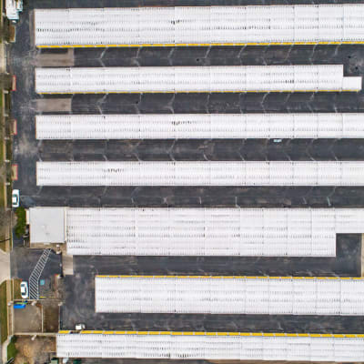 Aerial view of the units at Storage Star Laredo in Laredo, Texas