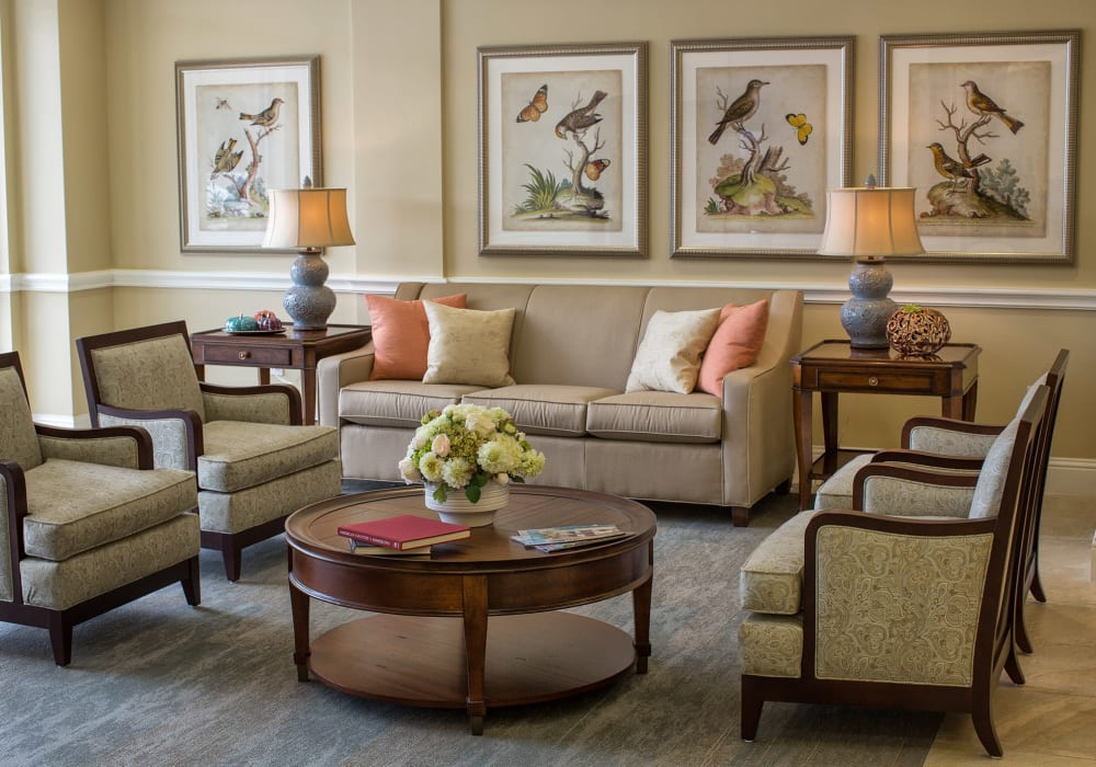 Cozy community seating at The Village of the Heights in Houston, Texas
