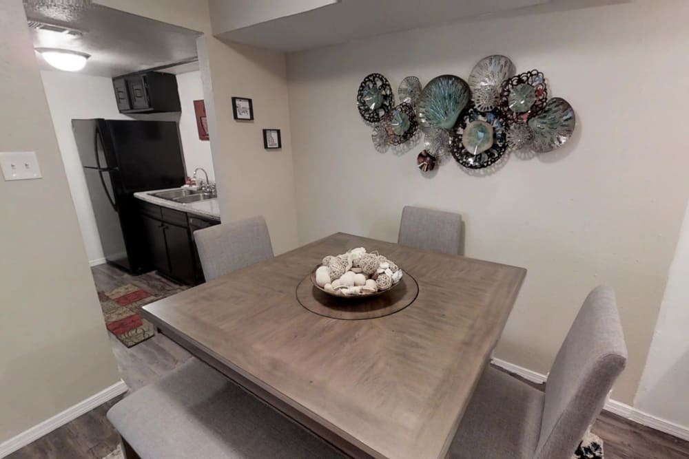 Dining Room at Maple Trail Apartments & Townhomes in Pasadena, Texas