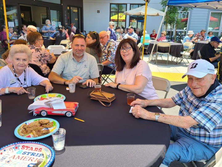 West Covina (CA) residents enjoy a big delicious barbeque.