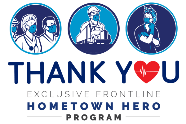 Hometown heroes graphic for Reserve at Pebble Creek in Plano, Texas