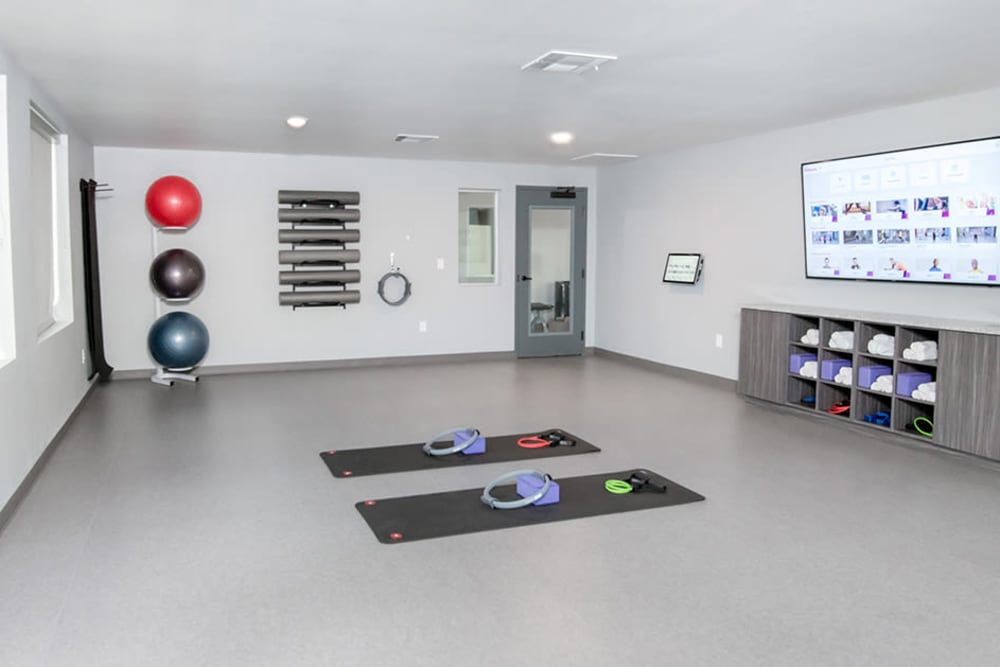 Fitness center at Estates of Richardson in Richardson, Texas