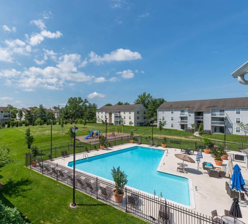 The community pool at The Landings I & II Apartments in Alexandria, Virginia