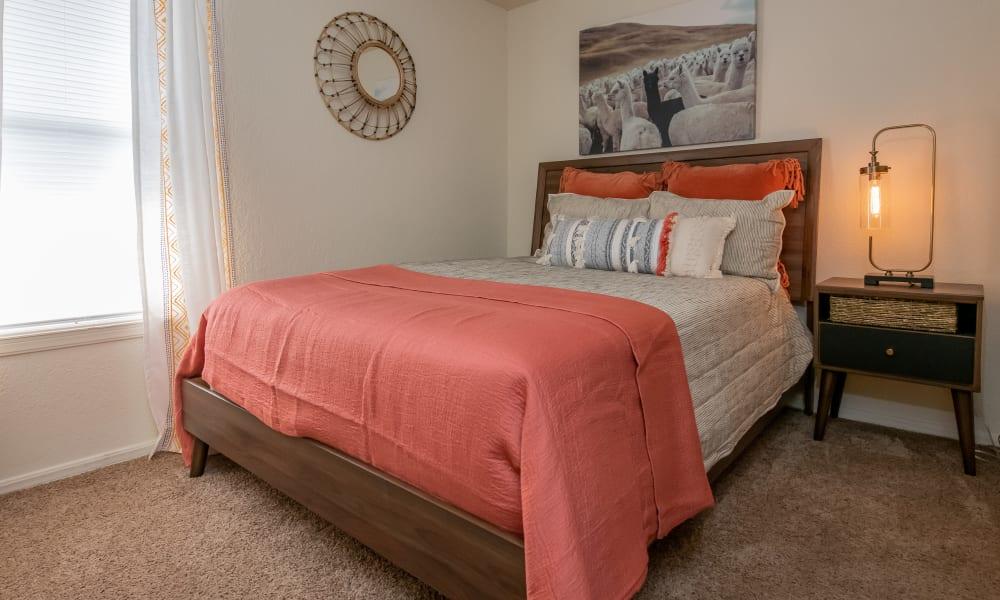 Lovely bedroom at Aspen Park Apartments in Wichita, Kansas