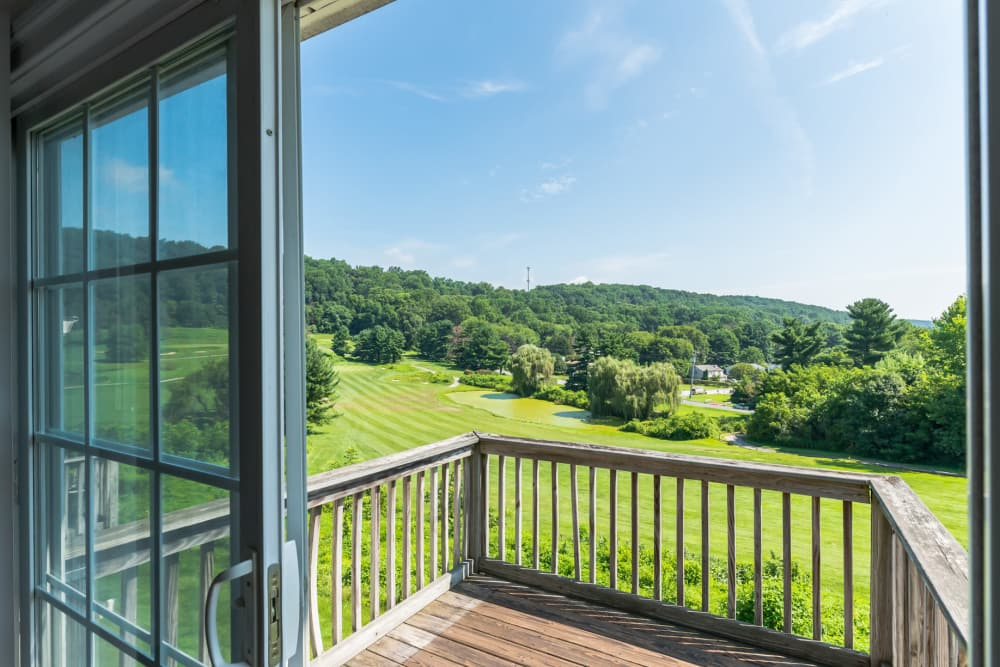 Golf course views from The Fairways Apartments and Townhomes In Thorndale, PA
