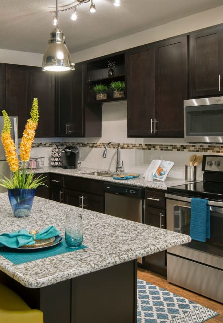 Fully equipped kitchen at Sands Parc in Daytona Beach, Florida