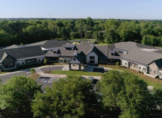 Aerial view of Westminster Memory Care in Lexington, South Carolina