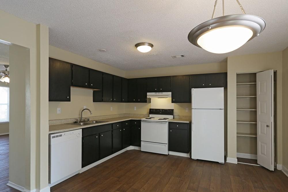 Kitchen model layout at Madison Pines in Madison, Alabama
