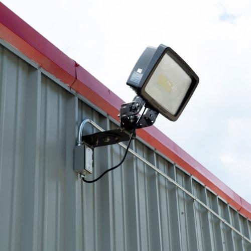 Bright exterior lighting at Red Dot Storage in Huntsville, Alabama