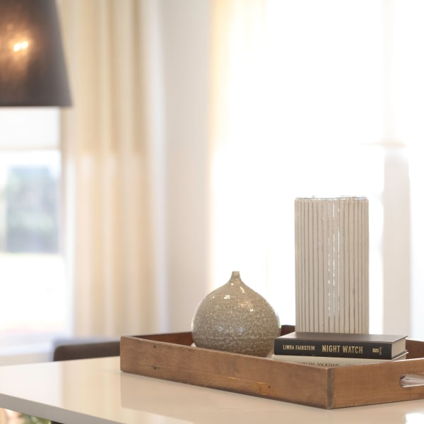 Home decor accents at Harrison Tower in Portland