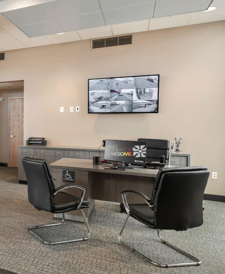 Interior of the leasing office at StorQuest Self Storage in Escondido, California