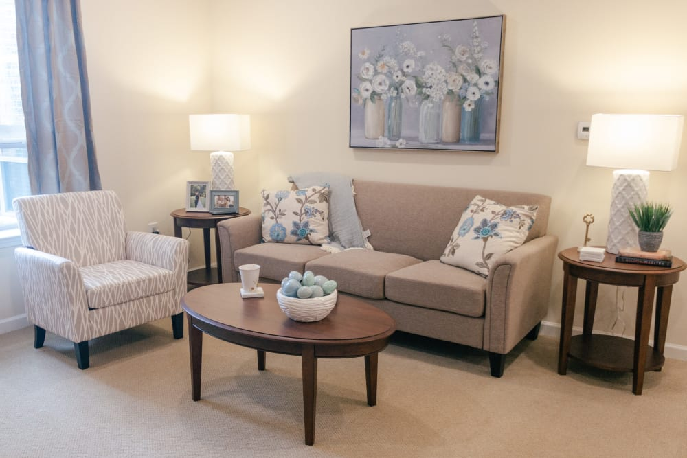 Living Room at Harmony at Greensboro in Greensboro, North Carolina