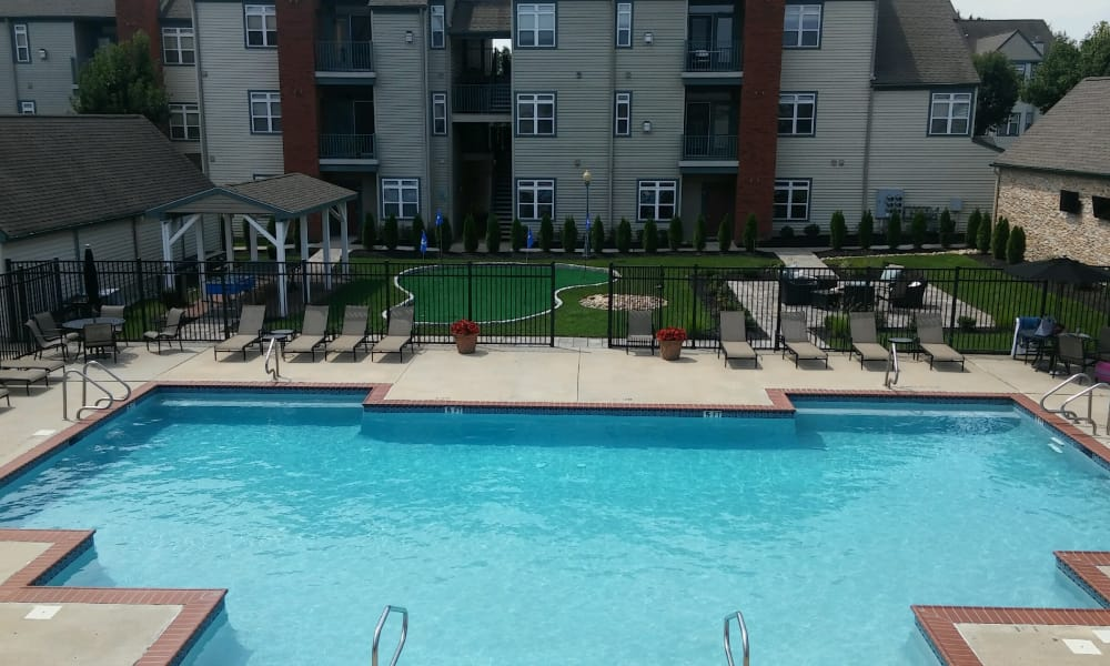 Bishop's View Apartments & Townhomes offers a swimming pool in Cherry Hill, NJ
