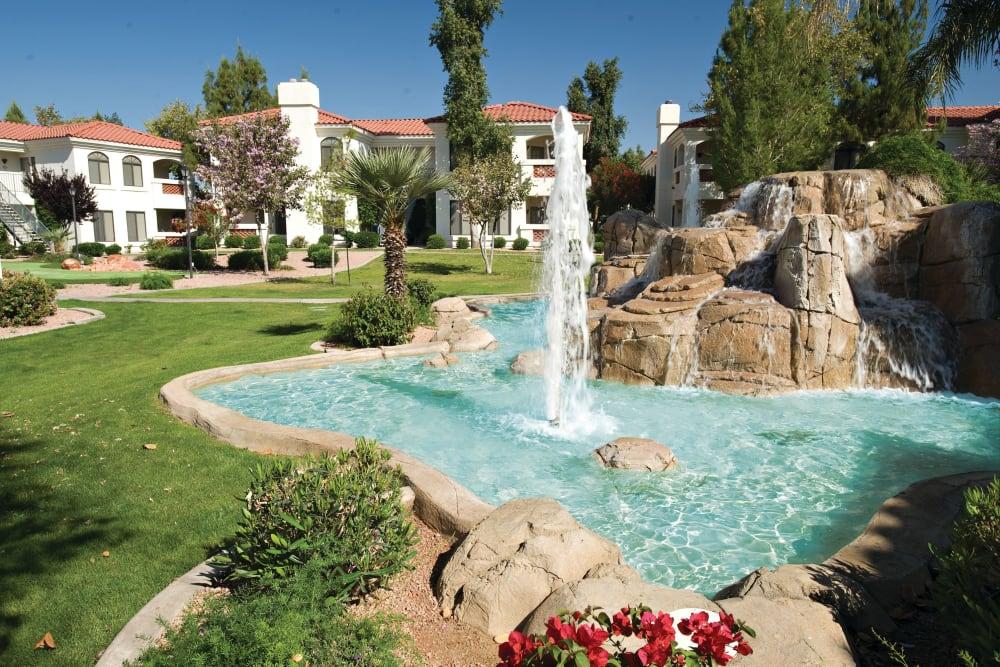 Beautiful Fountain at San Antigua in McCormick Ranch in Scottsdale, Arizona