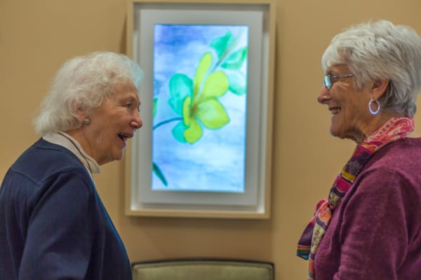 Seniors living a happy life here at Merrill Gardens at Carolina Park