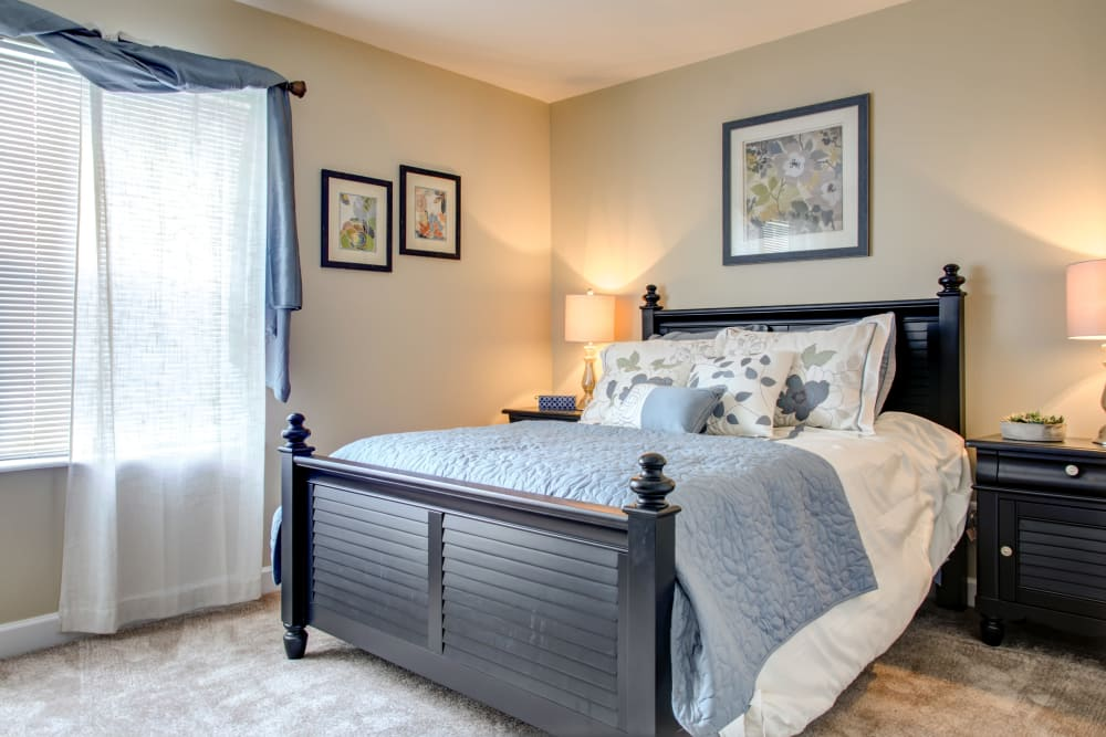 bedroom at apartments in Florissant, MO