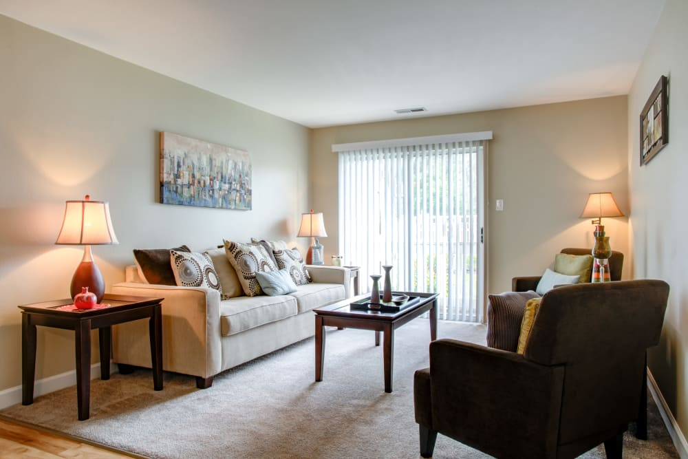 Living room at apartments in Florissant, MO